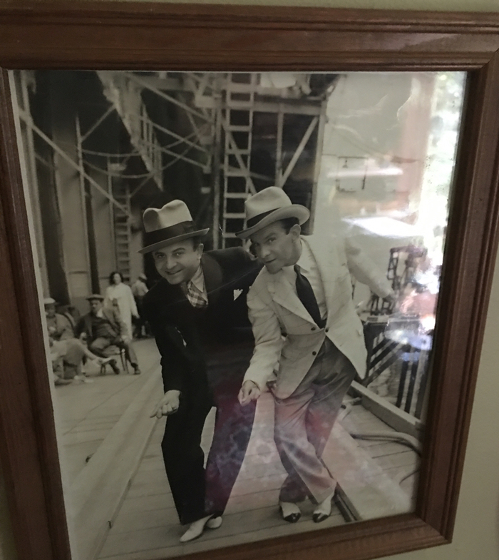 My dad and George Burns, dancing.